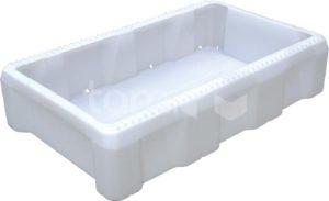 Ящик п/э рыбный 825х500х190 белый морозостойкий