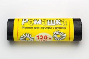 Мусорный мешок в рулоне 120 л. 10 шт. (ЧЕРНЫЙ)