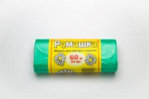 Мусорный мешок в рулоне 60 л. 25 шт. (ЗЕЛЁНЫЙ)