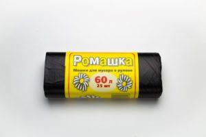 Мусорный мешок в рулоне 60 л. 25 шт. (ЧЕРНЫЙ)