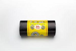 Мусорный мешок в рулоне 30 л. 50 шт. (ЧЕРНЫЙ)