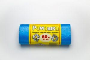 Мусорный мешок в рулоне 60 л. 25 шт. (СИНИЙ)