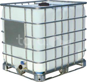 Емкость п/э куб. 1000л с краном на металлическом поддоне