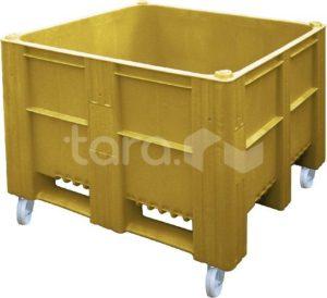 BoxPallet 1200х1000х900 мм сплошной на колесах