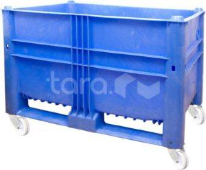 BoxPallet 1200х800х900 мм сплошной на колёсах