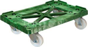 Тележка 600х400 пластик, (Россия), полиамидные колеса