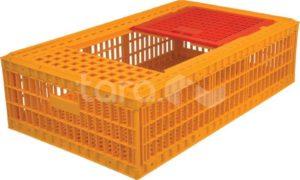 Ящик п/э для перевозки живой птицы 970х570х270 перфорированный с крышкой