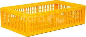 Ящик п/э для перевозки живой птицы 970х570х270 перфорированный БЕЗ КРЫШКИ