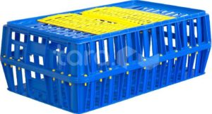 Ящик п/э для перевозки живой птицы 850х500х300 перфорированный