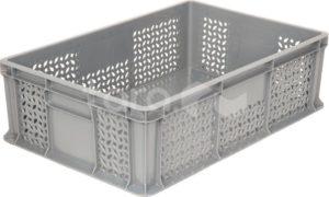 Ящик п/э 600*400*180 мм дно сплош.стенки перф.без ручек
