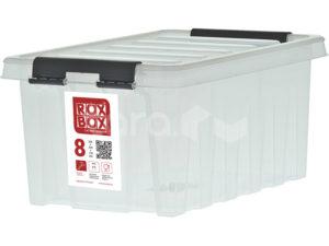 Ящик п/п 340х230х170 мм с крышкой и клипсами