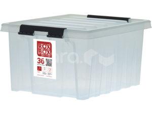 Ящик п/п 500х390х250 мм с крышкой и клипсами