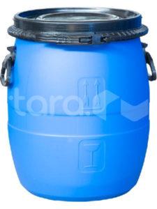 Бочка п/э 48л с крышкой на пластиковом обруче синяя