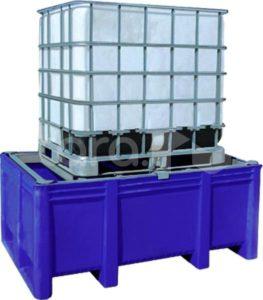 BoxPallet для отходов 1200х1740х740 мм (1100 л) в комплекте с решеткой