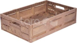 Ящик пластиковый 600Х400Х130 WOOD LOOK