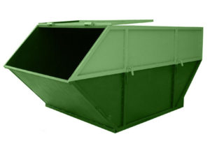 Бункер ТБО 8,0 куб. м с крышкой